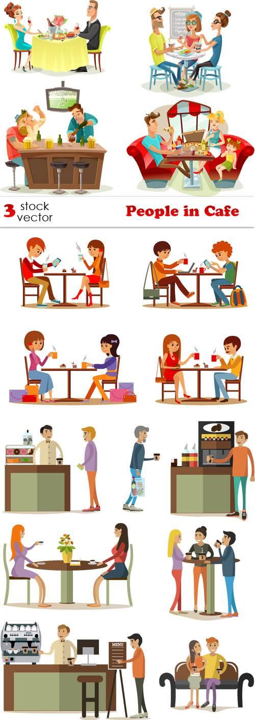 Vectors - People in Cafe