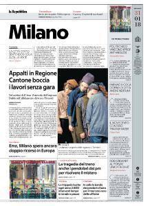 la Repubblica Milano - 31 Gennaio 2018