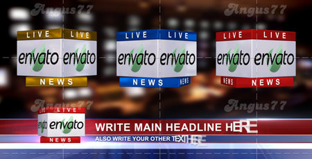 After Effects Project - 3D News Logo & Lower Third Ver. 1.1 (In 3 Colors)