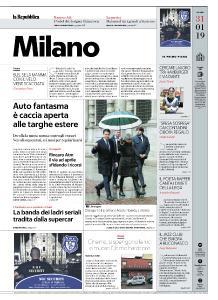 la Repubblica Milano - 31 Gennaio 2019