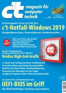 c't Magazin Nr.22 - 13 Oktober 2018