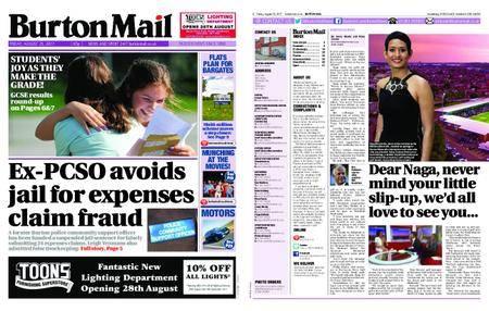 Burton Mail – August 25, 2017