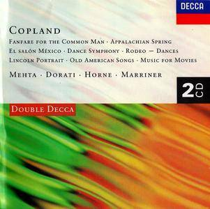 Zubin Mehta, Sir Neville Marriner, Carl Davis, Antal Dorati, Marilyn Horne - Aaron Copland: Orchestral & Vocal Works (1996) 2CD