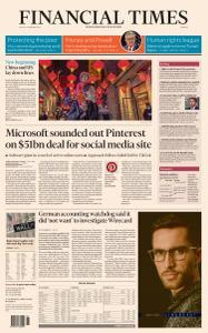 Financial Times Europe - February 12, 2021