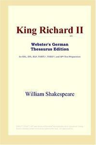 King Richard II (Webster's German Thesaurus Edition)
