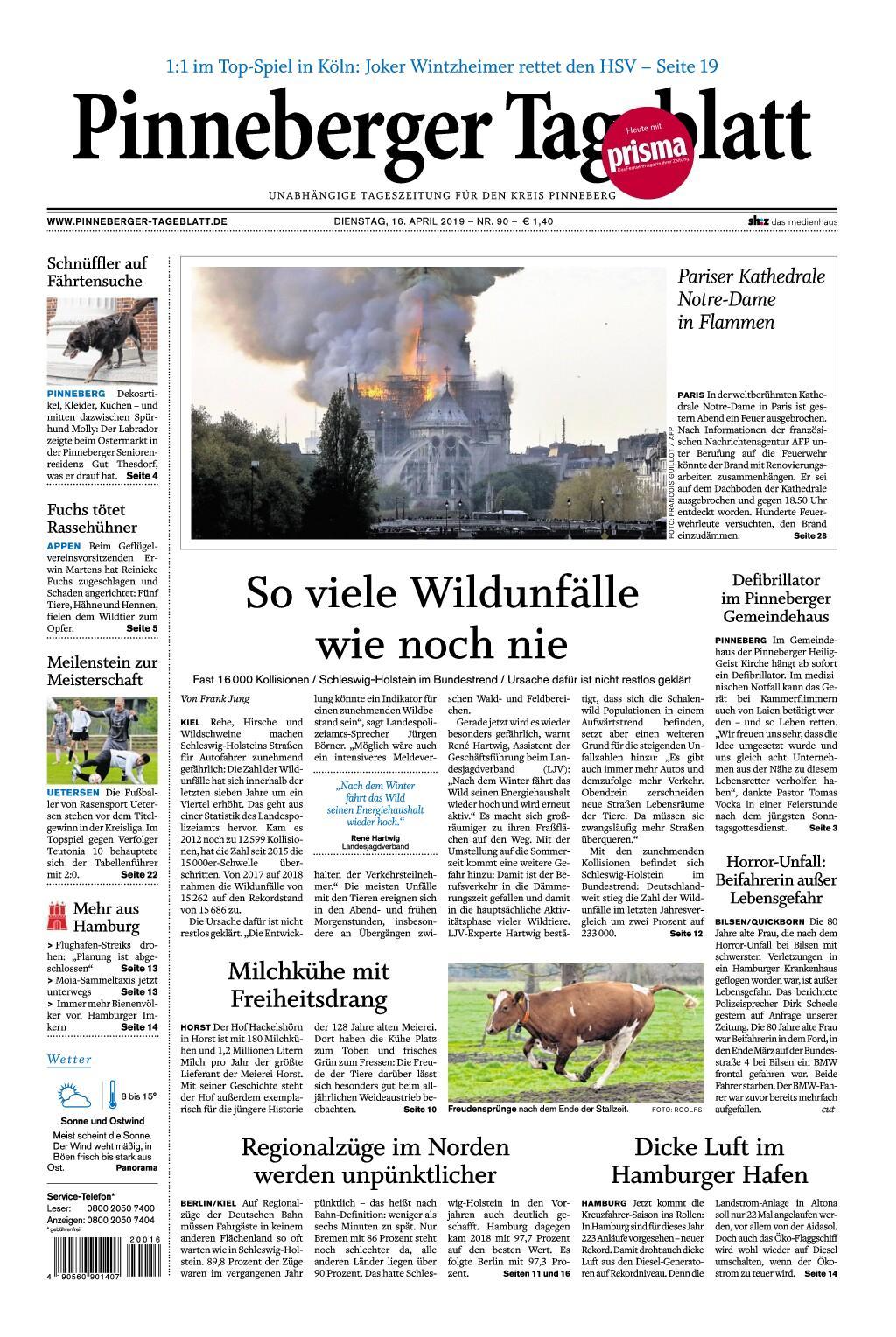 Pinneberger Tageblatt - 16. April 2019