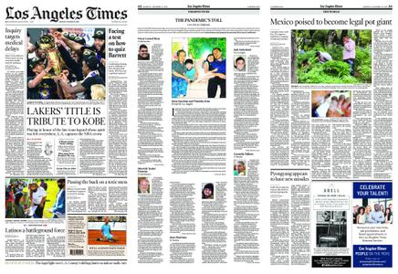 Los Angeles Times – October 12, 2020