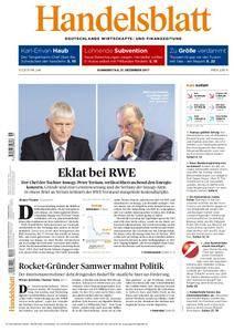 Handelsblatt - 21. Dezember 2017