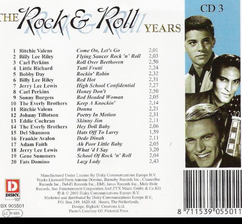 The rock & roll years - VA/3cd/MP3