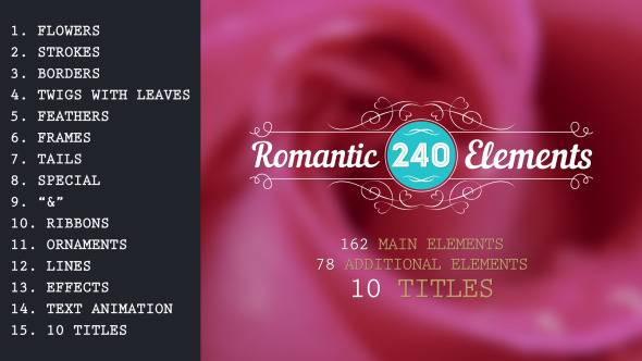 Romantic Elements & Titles - Project for After Effects (VideoHive)