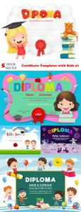 Vectors - Certificate Templates with Kids 27