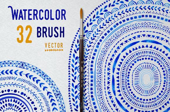 CreativeMarket - Vector Watercolor Brushes
