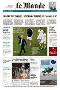 Le Monde du Dimanche 8 et Lundi 9 Juillet 2018