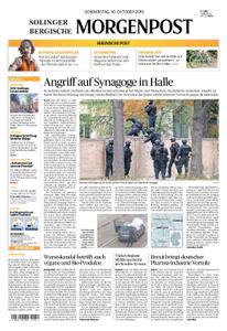 Solinger Morgenpost – 10. Oktober 2019