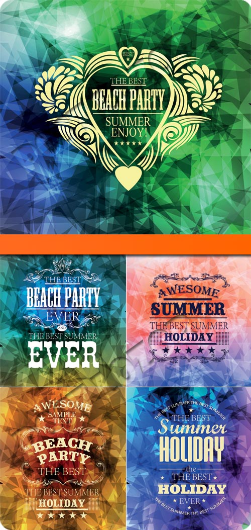 Summer Holidays with colorful vector background