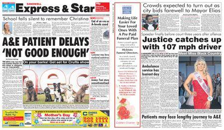 Express and Star Sandwell Edition – March 07, 2018