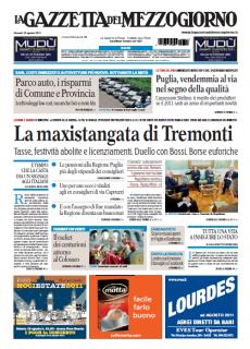 La Gazzetta del Mezzogiorno del 12 Agosto 2011