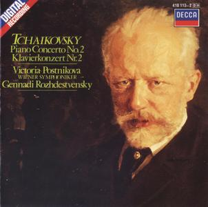 Victoria Postnikova, Wiener Symphoniker, Gennadi Rozhdestvensky - Tchaikovsky: Piano Concerto No. 2 (1985)