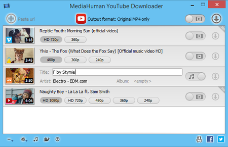 MediaHuman YouTube Downloader 3.9.9.21 (1708) Multilingual + Portable
