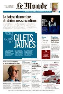 Le Monde du Dimanche 27 et Lundi 28 Janvier 2019