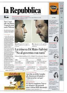 la Repubblica - 14 Marzo 2018