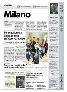 la Repubblica Milano - 2 Febbraio 2018