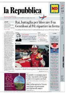 la Repubblica - 29 Luglio 2018