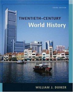 Contemporary world history william j duiker pdf file