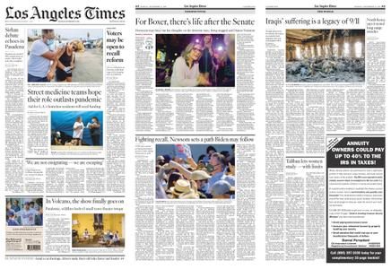 Los Angeles Times – September 13, 2021
