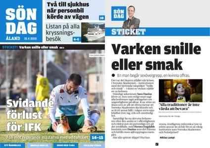 Ålandstidningen – 15 april 2018
