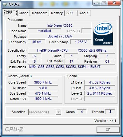 Cpu-Z System Analisys