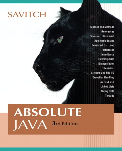 Absolute Java (3rd Edition) (Repost)