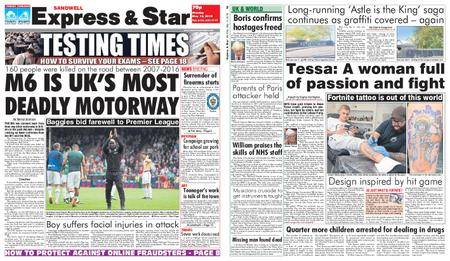Express and Star Sandwell Edition – May 14, 2018