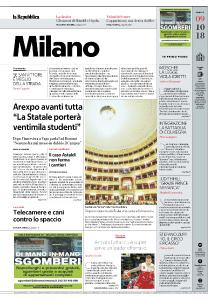 la Repubblica Milano - 9 Ottobre 2018