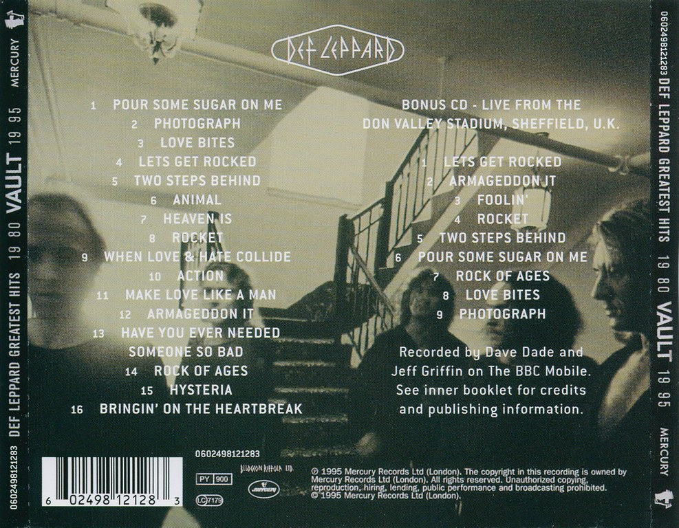 Def Leppard - Vault: Greatest Hits 1980 - 1995 (1995