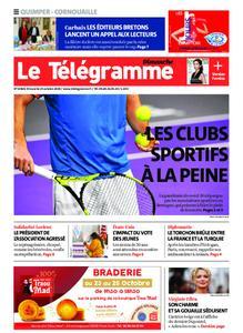 Le Télégramme Ouest Cornouaille – 25 octobre 2020
