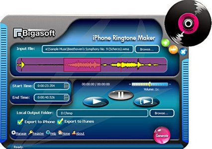 iPhone Ringtone Maker v1.7.2.3686