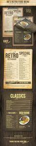 GR - 80s Retro Single Page Menu A4 and US Letter 20907694