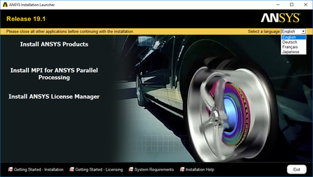 ANSYS Products v19.1 with Documentation Multilingual