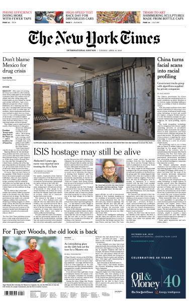 International New York Times - 16 April 2019
