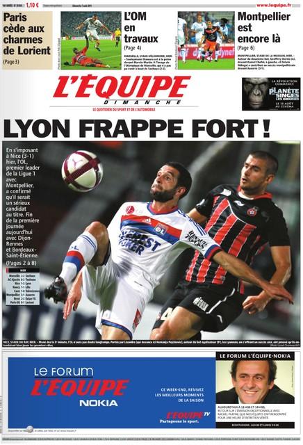L'EQUIPE (7 Août 2011)