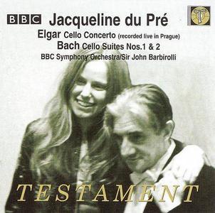 Jacqueline du Pré, BBC Symphony Orchestra, John Barbirolli - Elgar: Cello Concerto, J.S. Bach: Cello Suites Nos. 1 & 2 (2005)