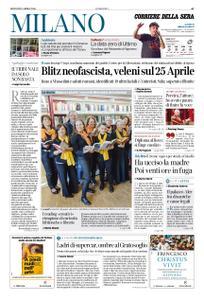 Corriere della Sera Milano – 25 aprile 2019
