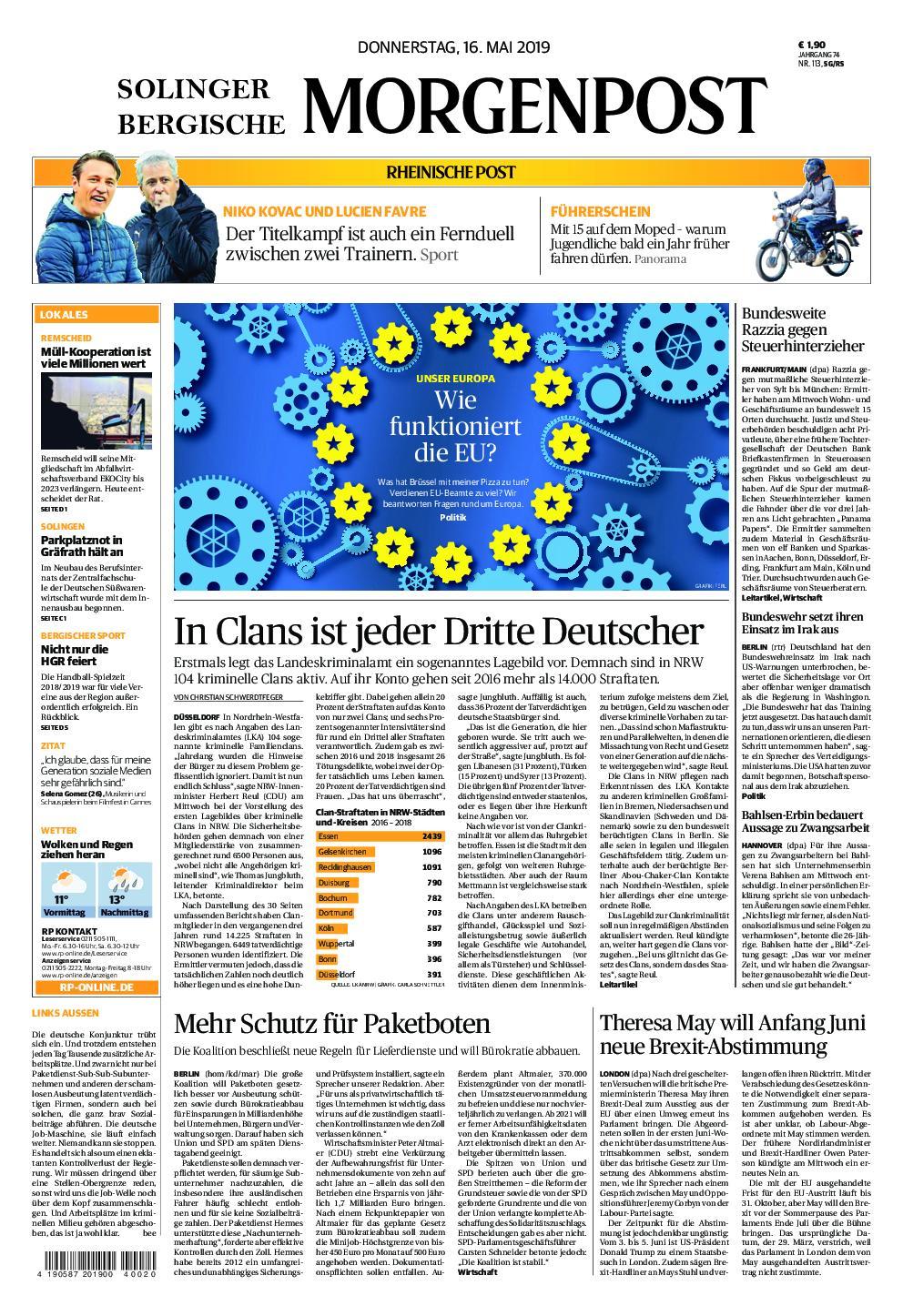 Bergische Morgenpost – 16. Mai 2019