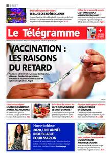 Le Télégramme Brest Abers Iroise – 31 décembre 2020