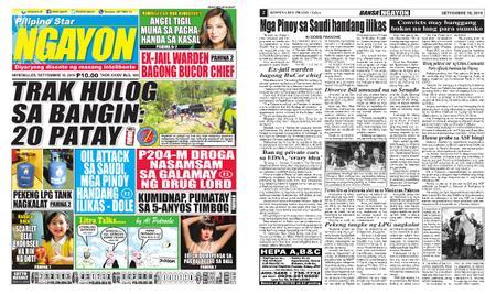 Pilipino Star Ngayon – Septiyembre 18, 2019