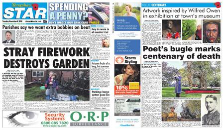 Shropshire Star Shrewsbury Edition – November 06, 2018