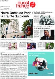 Ouest-France Édition France – 07 août 2019