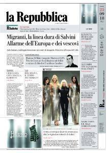 la Repubblica - 25 Settembre 2018