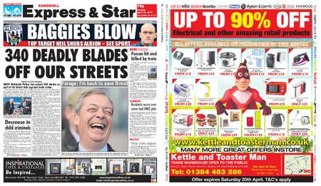 Express and Star Sandwell Edition – April 15, 2019